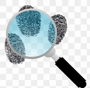Vector Magnifying Glass - Download Fingerprint Clip Art PNG
