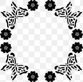 Butterfly - Butterfly Black And White Drawing Clip Art PNG