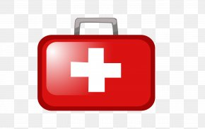 Vector Red Cross Head First Aid Kit - First Aid Kit PNG
