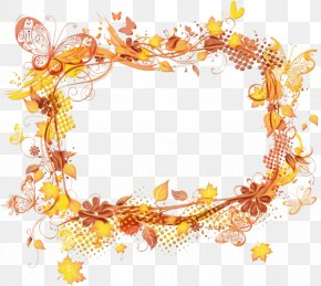 Yellow Film Frame - Watercolor Background Autumn Frame PNG
