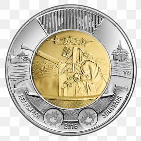Financial Gold Coins - Canada In Flanders Fields Battle Of The Atlantic Toonie Australian Two-dollar Coin PNG