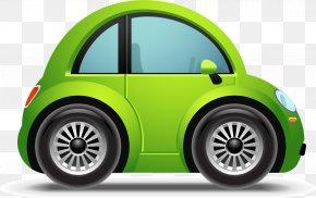 Vector Green Car - Sports Car Convertible Clip Art PNG