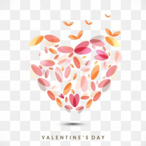 Petals LOGO - Valentine's Day Heart Qixi Festival Gift Greeting Card PNG