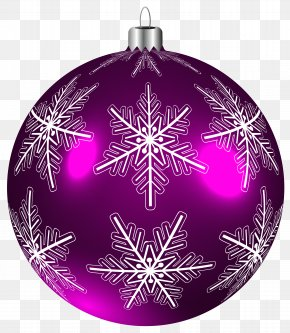 Beautiful Purple Christmas Ball Clip-Art Image - Christmas Ornament Clip Art PNG