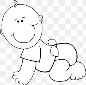 Baby Outline - Infant Black And White Clip Art PNG