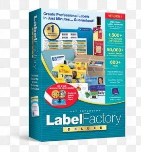 Explosion Label - Label Printer Printing Label Factory Deluxe 3 Compact Disc PNG