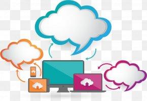 Blue Cloud Storage Chart - Cloud Computing Euclidean Vector PNG