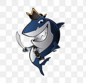 Cartoon Shark - Shark Piracy Royalty-free Clip Art PNG