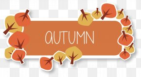 Autumn Title Box Vector - Autumn Euclidean Vector Clip Art PNG