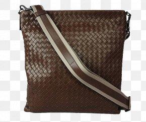 Men's Brown Leather Butterfly House Paula Messenger Shoulder Bag - Butterfly Shoulder Handbag PNG