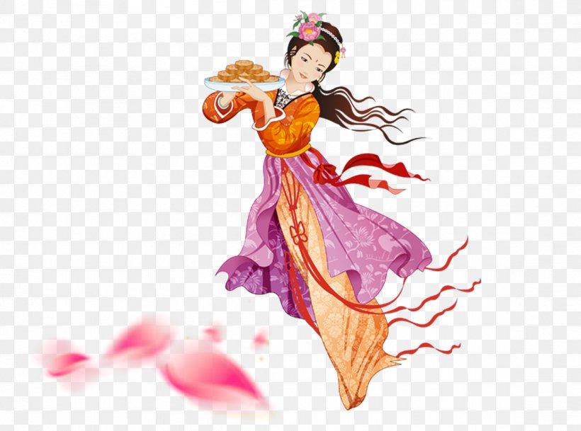 Mid-Autumn Festival Chang'e Moon Rabbit Icon, PNG, 1163x865px, Mid Autumn Festival, Art, Chang E, Clothing, Costume Download Free