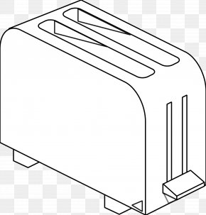 Toaster - Toaster Black And White Coloring Book Clip Art PNG
