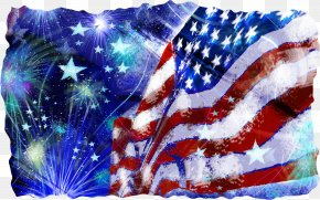 Veterans Day Electric Blue - 4th Of July Fireworks PNG