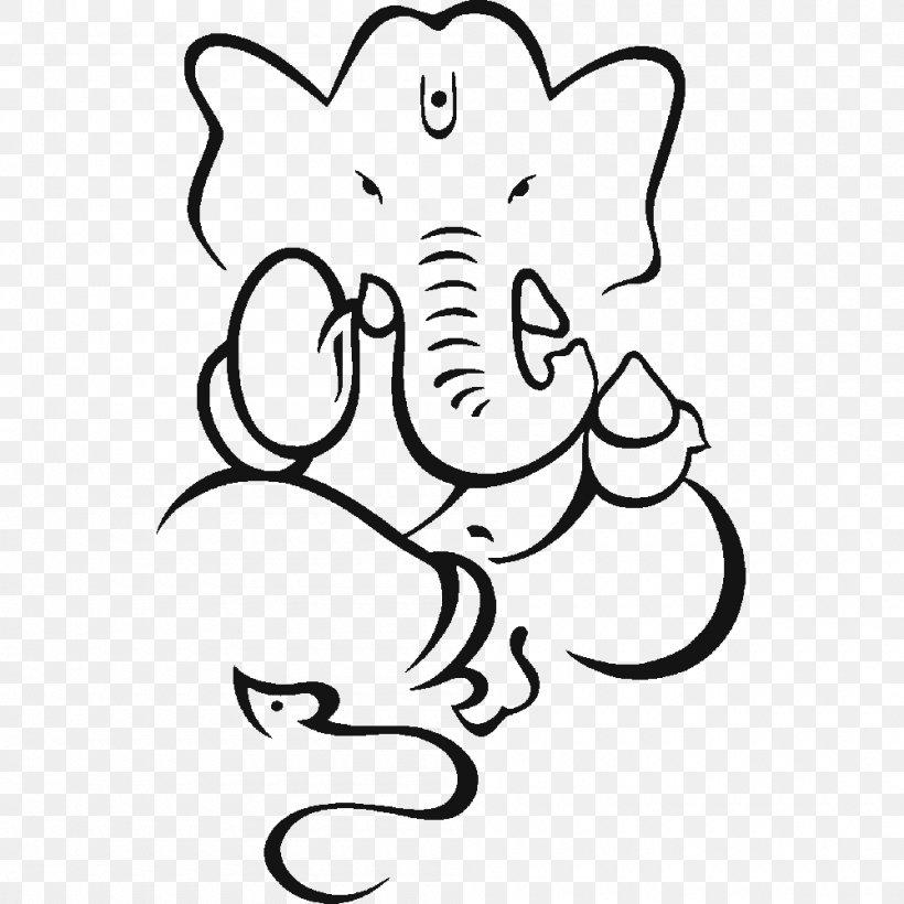 Ganesha Sketch Drawing Image Mahadeva Png 1000x1000px Watercolor Cartoon Flower Frame Heart Download Free