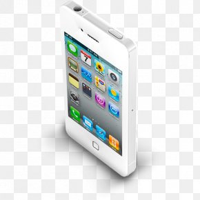 IPhone 4 White - Portable Communications Device Smartphone Mobile Phone Accessories Electronic Device PNG