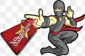 Ninja Kid - Card Throwing Playing Card Ninja Clip Art PNG