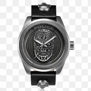 Police Cool Skull Punk Style Quartz Watch - Coaxial Escapement Omega SA Watch Omega Seamaster Omega Speedmaster PNG