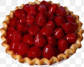Sew - Ice Cream Strawberry Pie Tart Cream Pie PNG