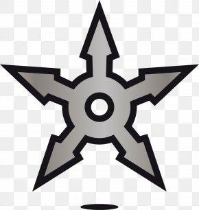 Ninja Pentagram - Shuriken Ninja Pattern PNG