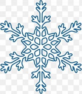 Creative Blue Snowflake Winter - Winter Snowflake Blue PNG