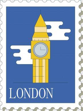 Cartoon Big Ben Vector - Big Ben Postage Stamp Euclidean Vector Rubber Stamp Drawing PNG