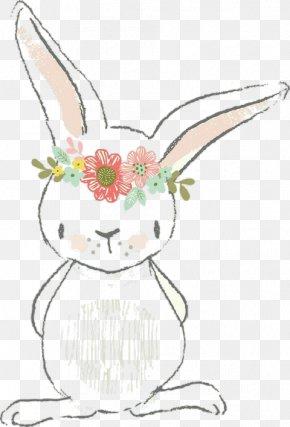 Cute Bunny Drawing Cartoon Rabbit - Easter Bunny Watercolor Painting Rabbit Drawing Hare PNG