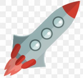 Cutting Tool Red - Cartoon Rocket PNG