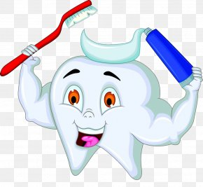 Brushing Teeth Cartoon Picture - Toothbrush Toothpaste Tooth Brushing PNG