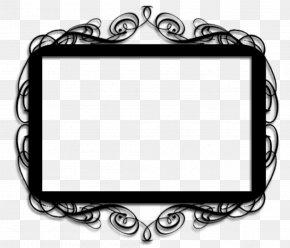 Visual Arts Rectangle - Background Black Frame PNG