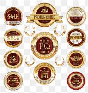 Round Metal Warranty Badge - Badge Euclidean Vector Label PNG