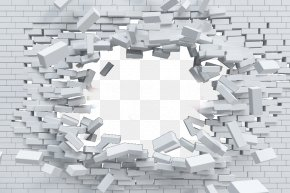 Blasted Brick Wall - Brick Partition Wall Whitewash Plaster PNG