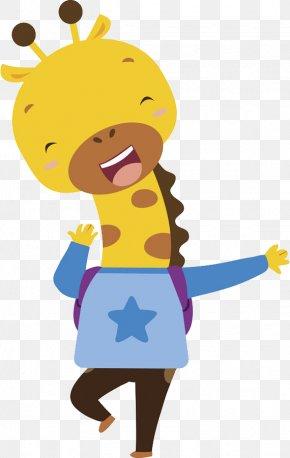 Cartoon Giraffe - Giraffe Cartoon Illustration PNG
