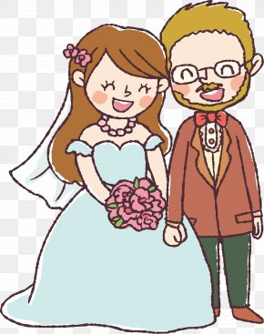 Wedding Character Design - Marriage Drawing Wedding Invitation Couple PNG