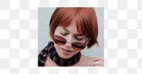 Hair - Red Hair Bangs Eyebrow Brown Hair PNG
