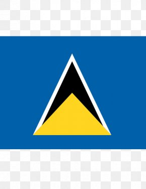 Flag - Flag Of Saint Lucia Pitons National Flag Flags Of The World PNG