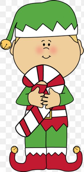 Christmas Elf Cliparts - Candy Cane Santa Claus Christmas Elf Clip Art PNG
