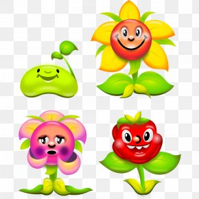 Spring Flower Cartoon - Flower Drawing Cartoon Clip Art PNG