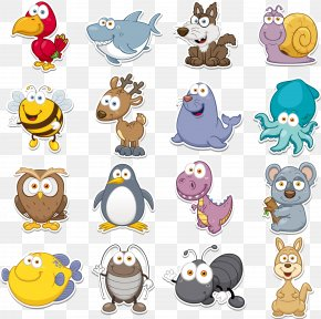 Q Version Animal Vector Collection - Funny Animal Clip Art PNG