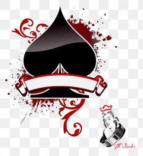 Playing Cards - Texas Hold 'em Ace Of Spades Playing Card Suit PNG
