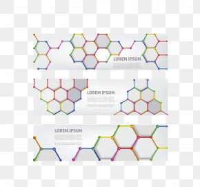 Vector Gray Cellular Banner - Web Banner Hexagon PNG