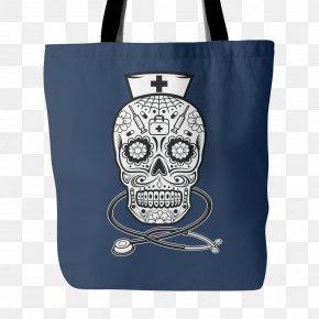 Skull - Calavera Nursing Tattoo Skull Registered Nurse PNG