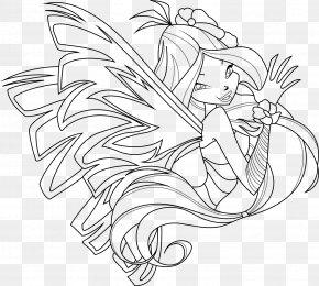 Coloring Page - Flora Sirenix Coloring Book Drawing Tecna PNG