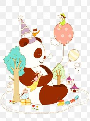 A Giant Panda - Giant Panda Illustration PNG