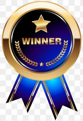 Winner Medal Blue Transparent Clip Art Image - Medal Trophy Clip Art PNG