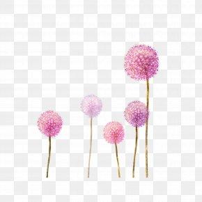 Spring Wildflowers Desktop Wallpaper - Clip Art Image Desktop Wallpaper Watercolor Painting PNG