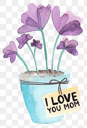 Violet Family Herbaceous Plant - Flowerpot Flower Violet Plant Purple PNG
