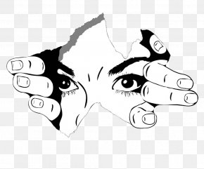 Black And White Eyes Illustrations - T-shirt Black And White Photography Drawing Sketch PNG