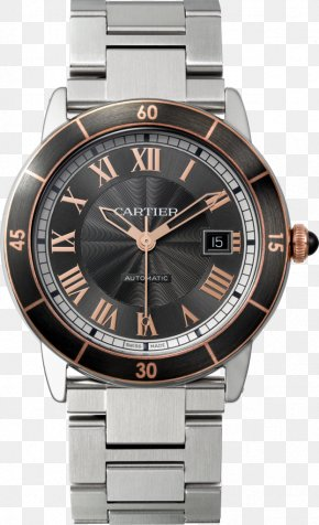 Watch - Cartier Tank Automatic Watch Movement PNG