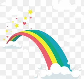 Beautiful Rainbow Bridge - Rainbow Bridge Bifröst Clip Art PNG