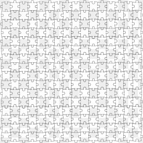 Puzzle Template - Black And White Puzzle Area Pattern PNG